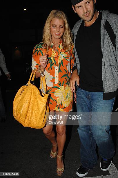 Singer Jessica Simpson and quarterback Tony Romo sighting on April 11, 2009 in Hollywood, California.
