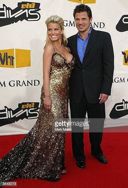 Singer Jessica Simpson and singer NIck Lachey attend the 7th Annual VH1 Divas Concert Benefiting The Save The Music Foundation at the MGM Grand...