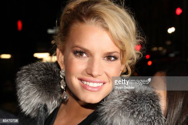 Singer Jessica Simpson attends a gala to celebrate Macy's 150th birthday at Gotham Hall on October 28 2008 in New York City