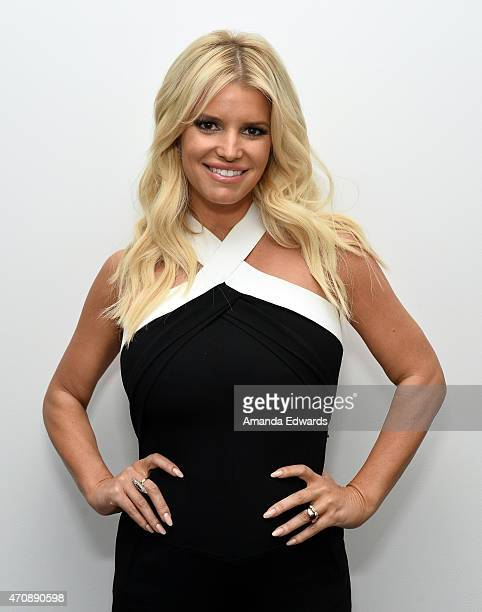 Singer Jessica Simpson attends a special preview of The Gleason Project at ZEFR Warehouse on April 23 2015 in Venice California