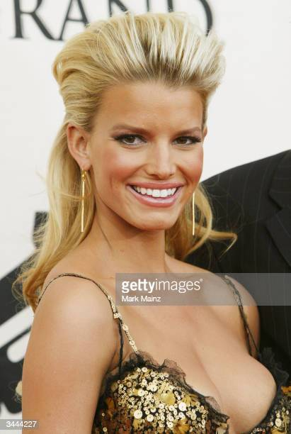 Singer Jessica Simpson attends the 7th Annual VH1 Divas Concert Benefiting The Save The Music Foundation at the MGM Grand Garden Arena April 18 2004...