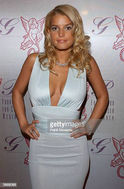 Singer Jessica Simpson attends The G P Foundation For Cancer Research salutes The World of Entertainment and Media at The Angel Ball located at the...