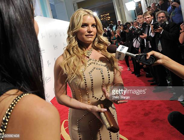 Singer Jessica Simpson attends The Greenbrier for the gala opening of the Casino Club on July 2 2010 in White Sulphur Springs West Virginia