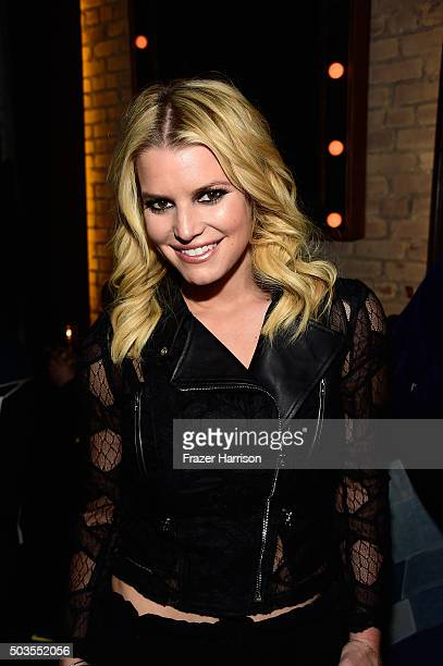 Singer Jessica Simpson attends the Linda Perry Celebration For The Song 'Hands Of Love' From The Film 'Freeheld' on January 5 2016 in Los Angeles...