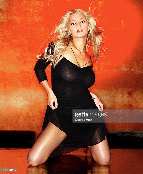 Singer Jessica Simpson is photographed for FHM Magazine on July 19 2000 in New York City