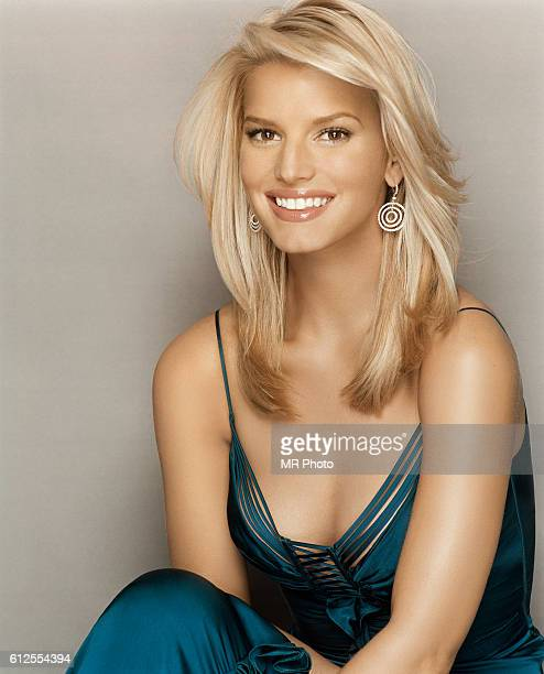 Singer Jessica Simpson is photographed for Marie Claire Magazine in 2004