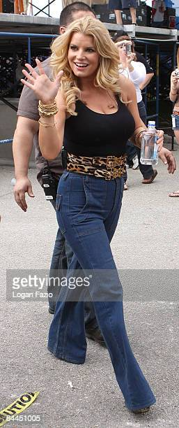 Singer Jessica Simpson is seen backstage at the 99.9 Kiss Country 24th Annual Chili Cook Off at CB Smith Park on January 25, 2009 in Pembroke Pines,...