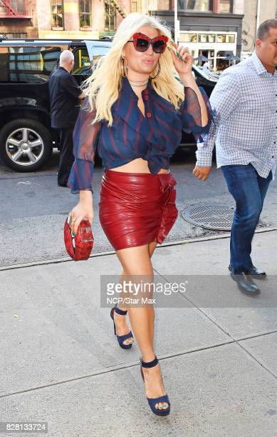 Singer Jessica Simpson is seen on August 8 2017 in New York City