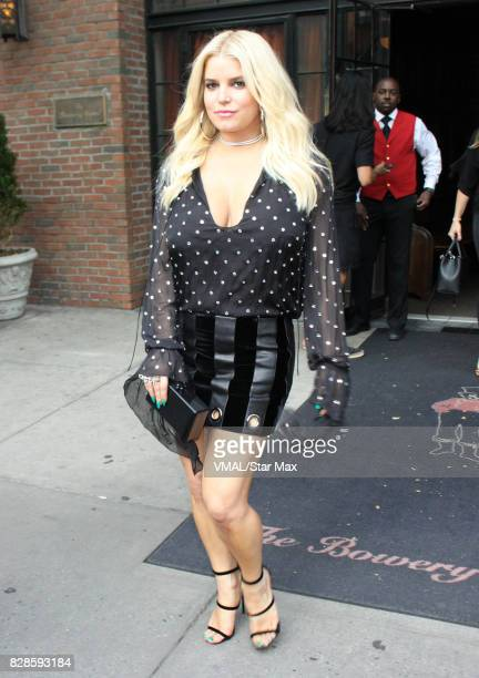 Singer Jessica Simpson is seen on August 9 2017 in New York City
