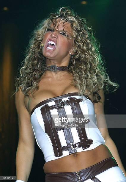 Singer Jessica Simpson performs at Z100''s Zootopia concert June 1 2001 at Nassau Veterans Coliseum in New York City