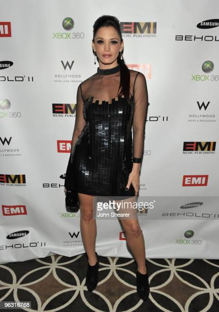 Singer Jessica Sutta attends the 2010 EMI Post GRAMMY Party at the W Hollywood Hotel and Residences on January 31 2010 in Hollywood California