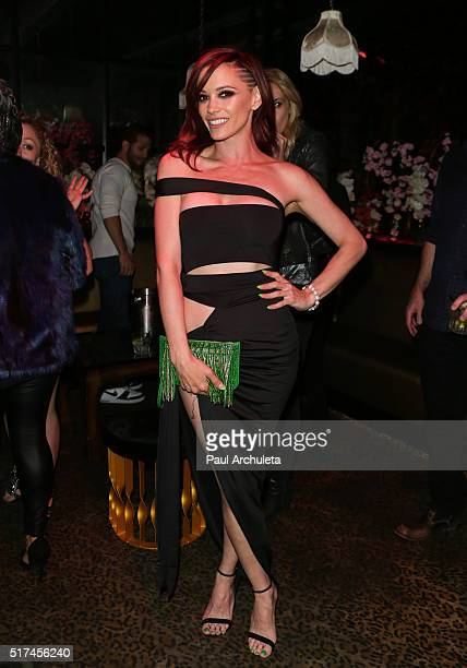 Singer Jessica Sutta attends the Perez Hilton birthday celebration at Blind Dragon on March 24 2016 in West Hollywood California