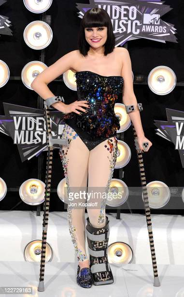 Singer Jessie J arrives at the 2011 MTV Video Music Awards held at Nokia Theatre LA Live on August 28 2011 in Los Angeles California