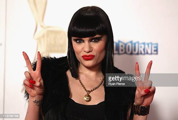 Singer Jessie J arrives on the red carpet ahead of the 2011 Logie Awards at Crown Palladium on May 1 2011 in Melbourne Australia