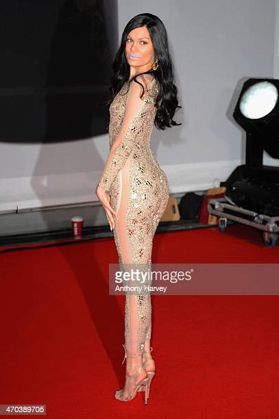 Singer Jessie J attends The BRIT Awards 2014 at 02 Arena on February 19 2014 in London England