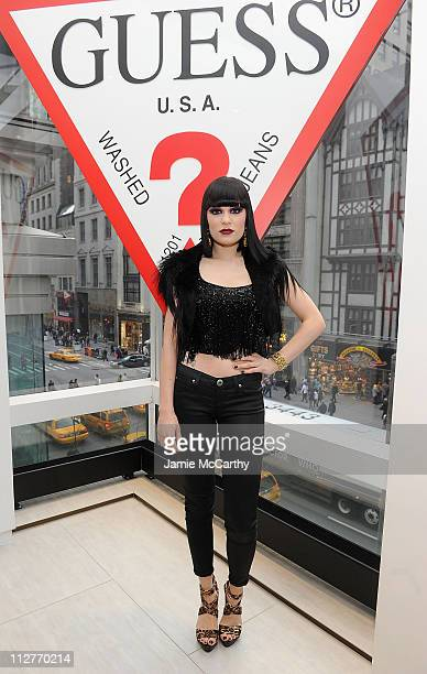 a3c21da40ed6 Singer Jessie J attends the grand opening of the new 5th avenue Flagship  store with live. GUESS And Vanity Fair Celebrate ...