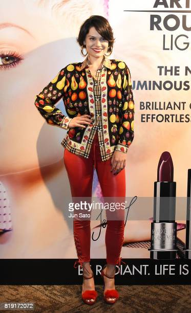 Singer Jessie J attends the 'Make Up For Ever' promotional event at the Grand Ginza on July 20 2017 in Tokyo Japan