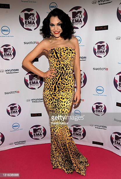 Singer Jessie J attends the MTV Europe Music Awards 2011 at the Odyssey Arena on November 6 2011 in Belfast Northern Ireland