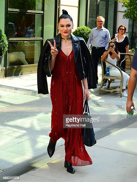 Singer Jessie J is seen in Soho on September 2 2015 in New York City