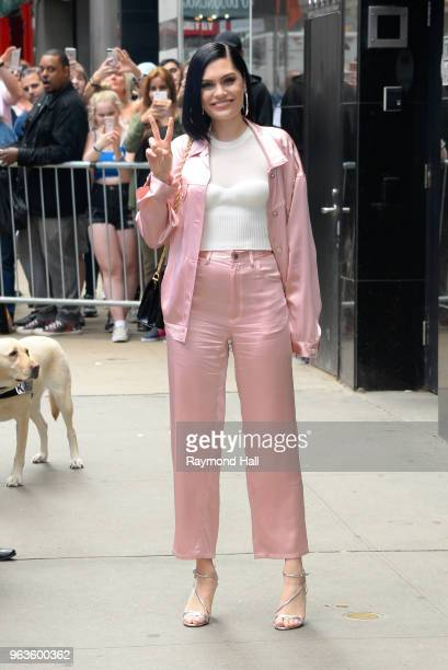 Singer Jessie J is seen leaving in outside 'Good Morning America' on May 29 2018 in New York City