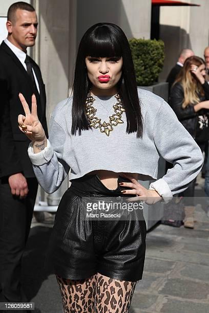 Singer Jessie J is sighted leaving her hotel on September 22 2011 in Paris France