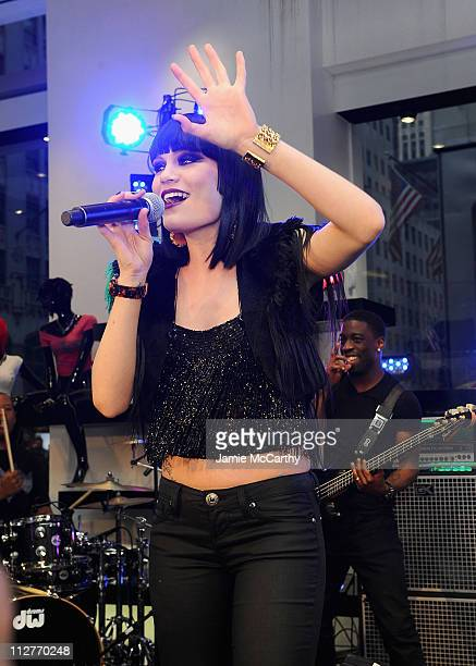 0b9569c40738 Singer Jessie J performs at the grand opening of the new 5th avenue  Flagship store with. GUESS And Vanity Fair Celebrate ...