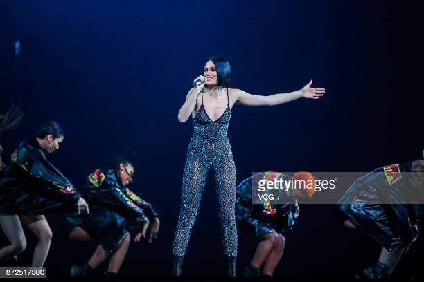 Singer Jessie J performs on the stage during 2017 Alibaba Singles' Day Global Shopping Festival gala at MercedesBenz Arena on November 10 2017 in...