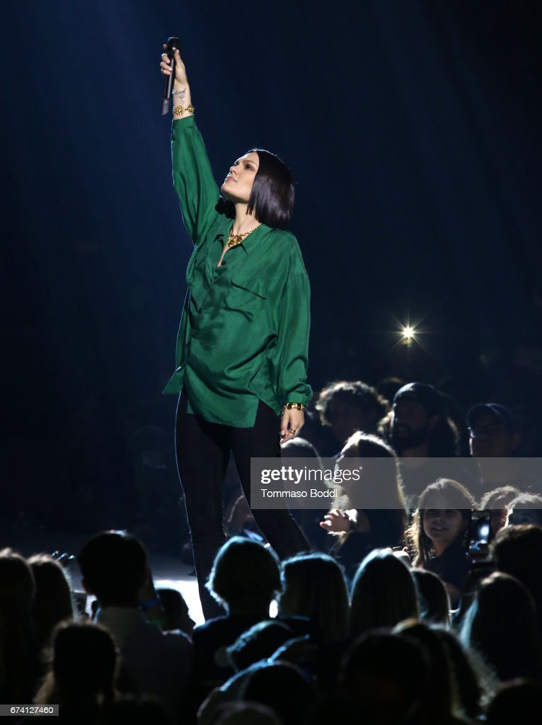 Singer Jessie J performs onstage at WE Day California to celebrate young people changing the world at The Forum on April 27, 2017 in Inglewood, California.