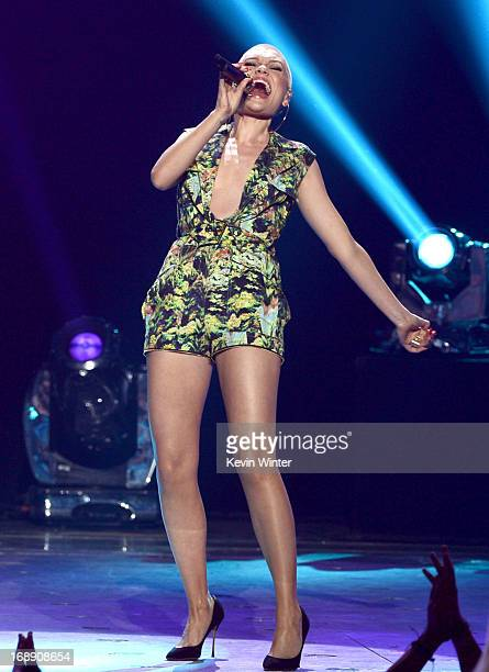 Singer Jessie J performs onstage during Fox's 'American Idol 2013' Finale Results Show at Nokia Theatre LA Live on May 16 2013 in Los Angeles...
