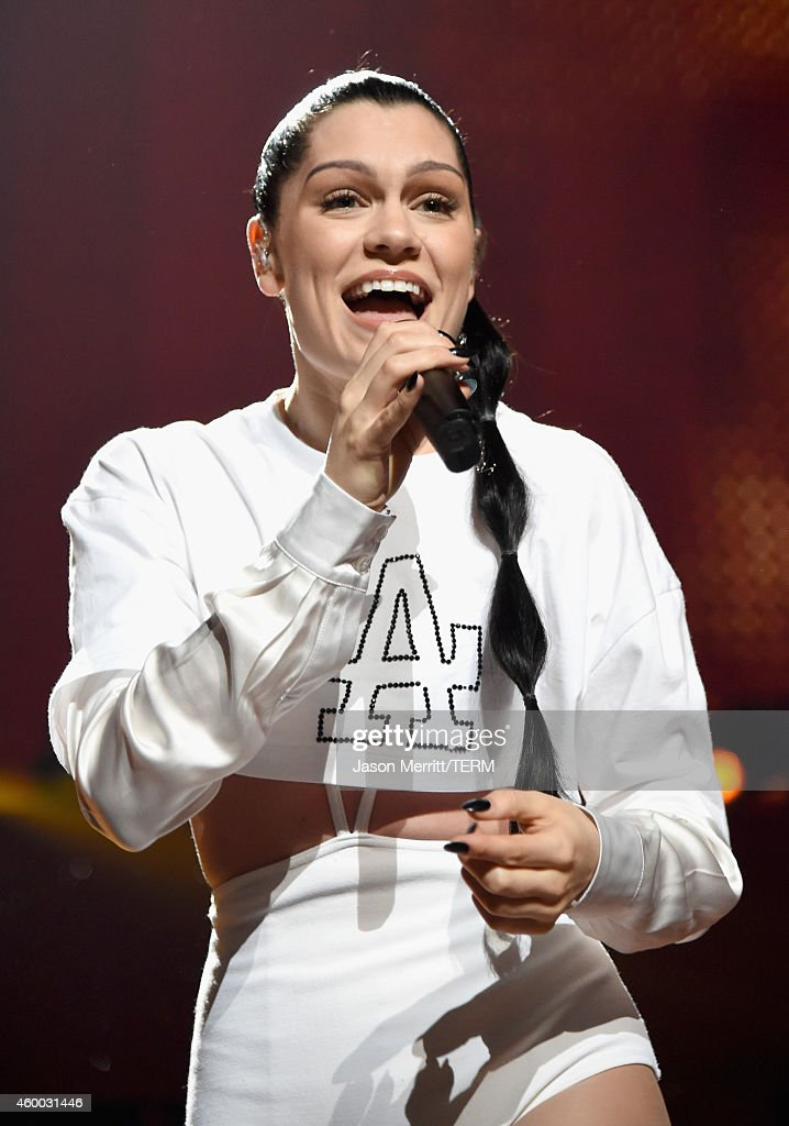 Singer Jessie J performs onstage during KIIS FM's Jingle Ball 2014 powered by LINE at Staples Center on December 5, 2014 in Los Angeles, California.