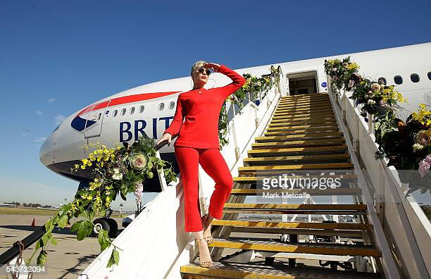 Singer Jessie J poses on a British Airways 777300 on June 30 2016 in Sydney AustraliaThe singersongwriter played an acoustic set for VIPs and...