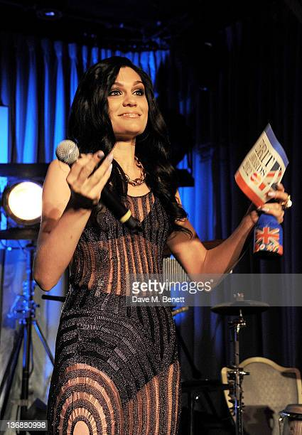 Singer Jessie J presents the 2012 BRIT Critics Choice Award at the nominations announcement for the BRIT Awards 2012 at The Savoy Hotel on January 12...
