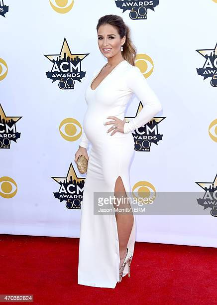 Singer Jessie James Decker attends the 50th Academy of Country Music Awards at ATT Stadium on April 19 2015 in Arlington Texas