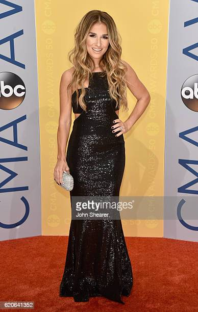 Singer Jessie James Decker attends the 50th annual CMA Awards at the Bridgestone Arena on November 2 2016 in Nashville Tennessee