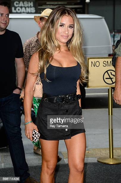 Singer Jessie James Decker enters the 'Today Show' taping at the NBC Rockefeller Center Studios on August 31 2016 in New York City