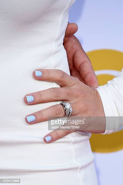 Singer Jessie James Decker fashion detail attends the 50th Academy of Country Music Awards at ATT Stadium on April 19 2015 in Arlington Texas