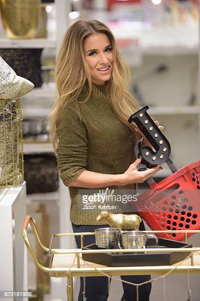 Singer Jessie James Decker shops game day entertaining essentials in the home aisles at local Target store on November 14 2016 in Clark New Jersey