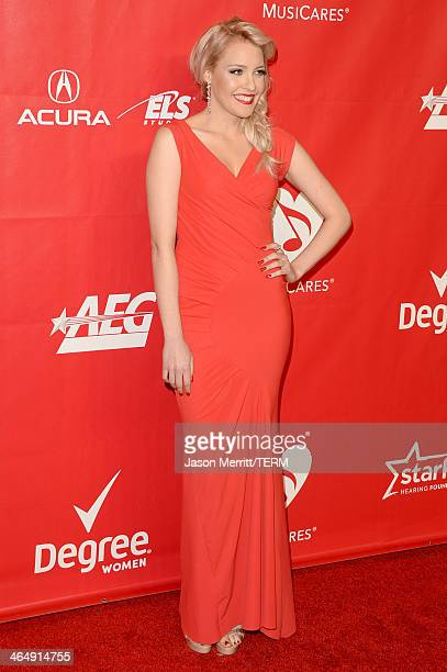 Singer Jessie Malakouti attends The 2014 MusiCares Person Of The Year Gala Honoring Carole King at Los Angeles Convention Center on January 24 2014...
