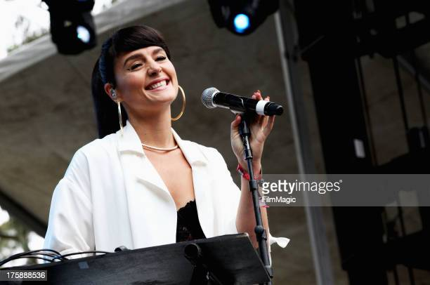 Singer Jessie Ware performs at the Sutro Stage during day 1 of the 2013 Outside Lands Music and Arts Festival at Golden Gate Park on August 9 2013 in...