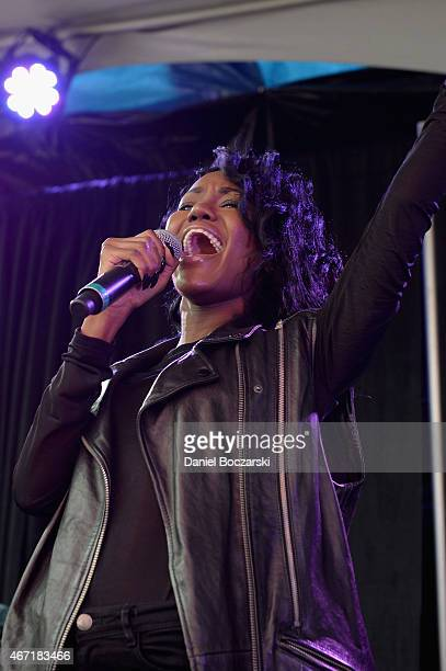 Singer Jessika Reynolds of James Davis performs at the AXE White Label Collective Party powered by SPIN at SXSW on March 21 2015 in Austin Texas