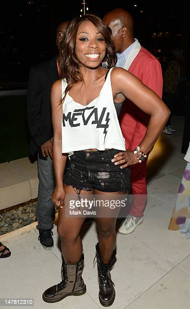 Singer Jessyca Wilson attends the 2012 BET Music Matters Showcase held at Creative Artists Agency on July 2 2012 in Los Angeles California