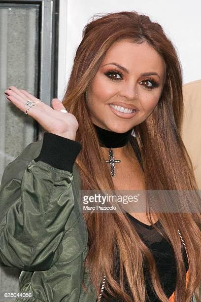 Singer Jesy Nelson of 'Little Mix' arrives at NRJ radio station on November 22 2016 in Paris France