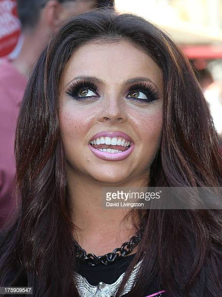 Singer Jesy Nelson of Little Mix attends the Teen Vogue 2nd Annual Back To School KickOff Party at The Grove on August 9 2013 in Los Angeles...