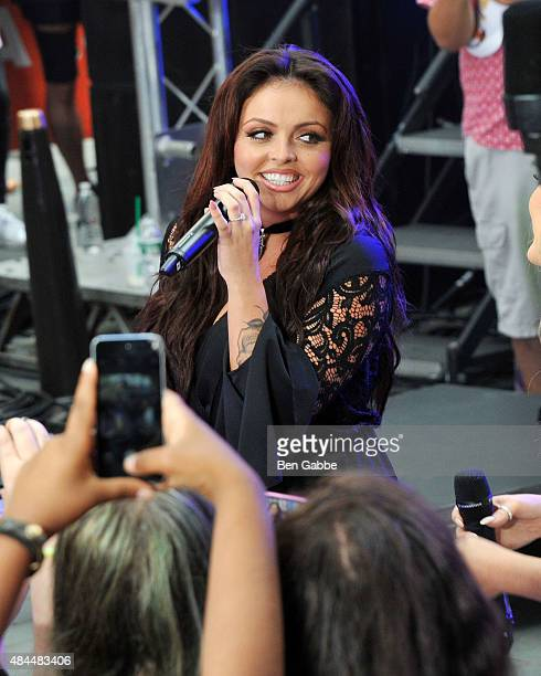 Singer Jesy Nelson of Little Mix performs on NBC's Today at Rockefeller Plaza on August 19 2015 in New York City