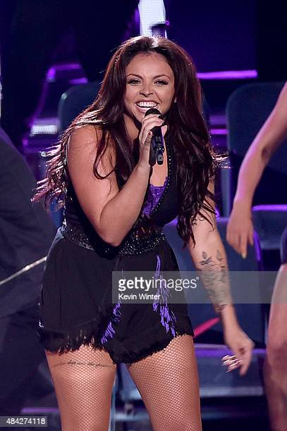 Singer Jesy Nelson of Little Mix performs onstage during the Teen Choice Awards 2015 at the USC Galen Center on August 16 2015 in Los Angeles...