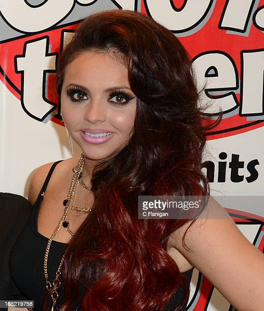 Singer Jesy Nelson of Little Mix poses backstage fater her performance at the Arden Center on April 1 2013 in Sacramento California