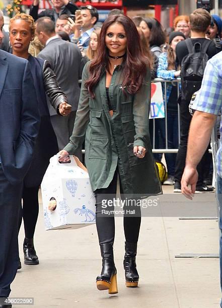 Singer Jesy Nelson of Little Mix sighting is seen outside Good Morning America on November 6 2015 in New York City