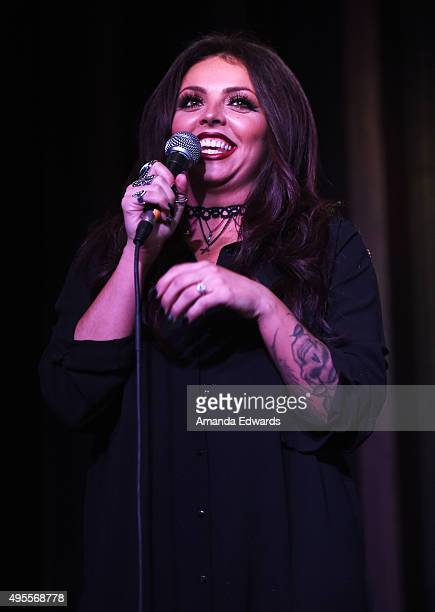 Singer Jesy Nelson of the girl band Little Mix performs onstage at the Hard Rock Cafe Hollywood CA on November 3 2015 in Hollywood California