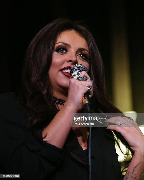 Singer Jesy Nelson of the Girl Group Little Mix performs live at the Hard Rock Cafe on November 3 2015 in Hollywood California