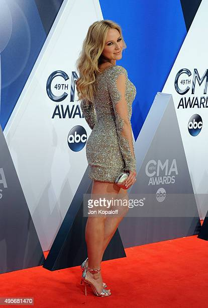 Singer Jewel attends the 49th annual CMA Awards at the Bridgestone Arena on November 4 2015 in Nashville Tennessee